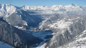 la valle di Bagnes vista dall'alto...