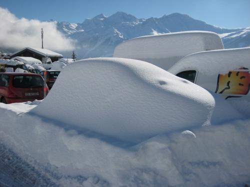 gli effetti della nevicata di venerdì...