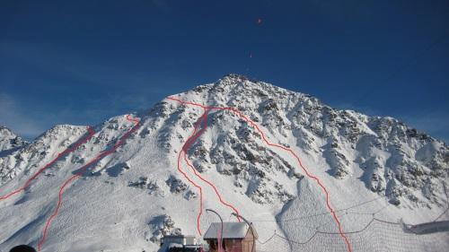 La faccia del Mont Gelè da Les Attelas