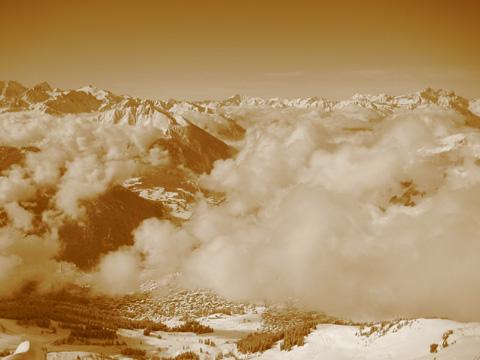 Verbier tra le nuvole